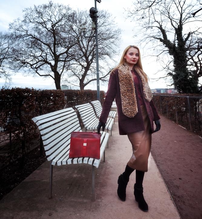 Burgundy_Coat_Midi_Skirt_Red_Bag