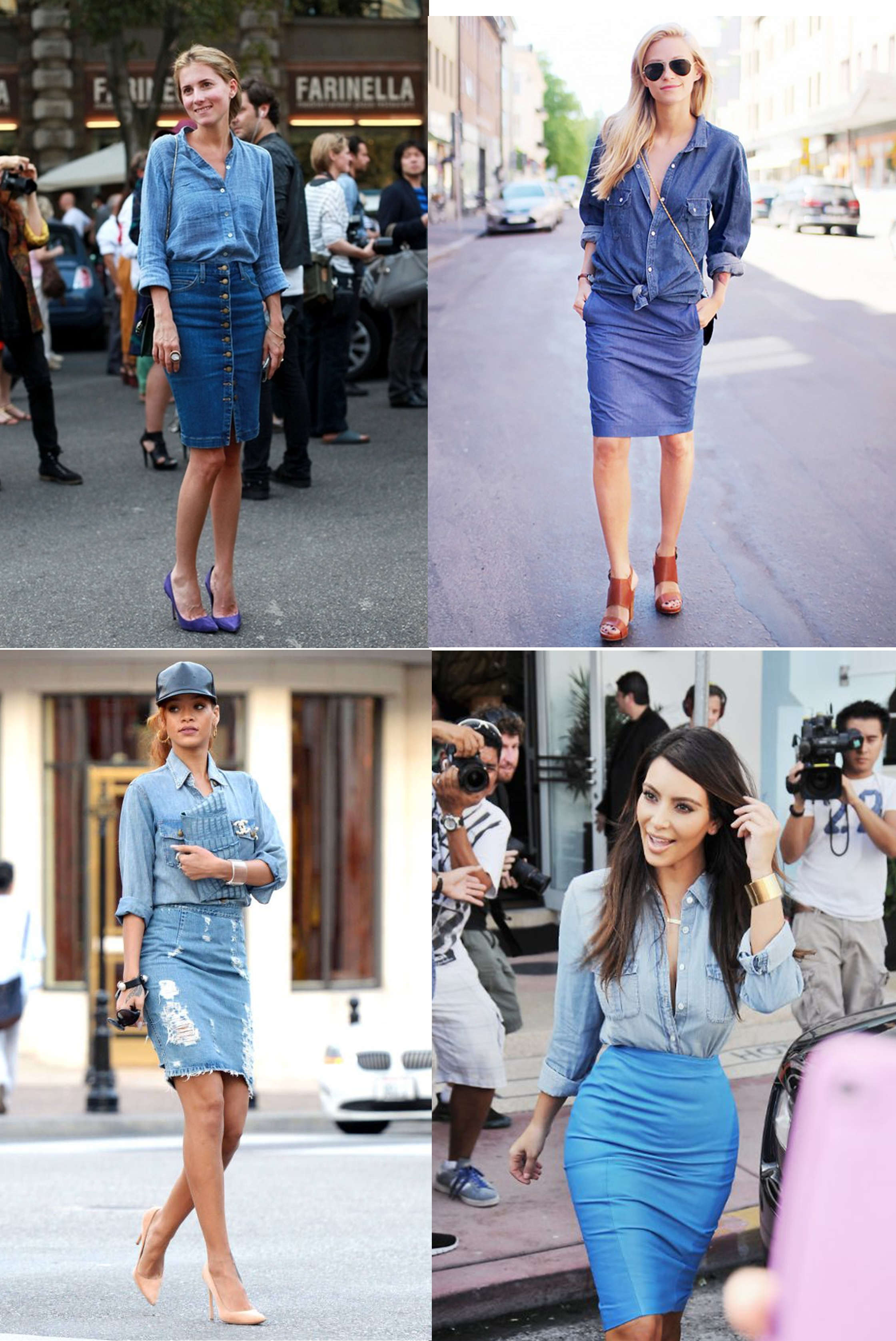 Denim On Denim Koláž Inspo