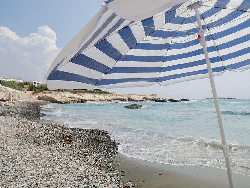 Beach Umbrella at the St. Georges Beach Club Resort, Paphos, Cyprus